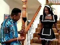 Porn adventure with lovely black doll