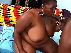 Appetizing ebony fatty goes naughty