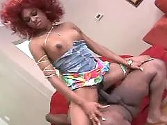 Yummy ebony big lady making sweaty sex