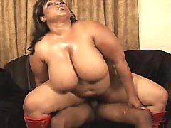 Ebony BBW fucks without a break